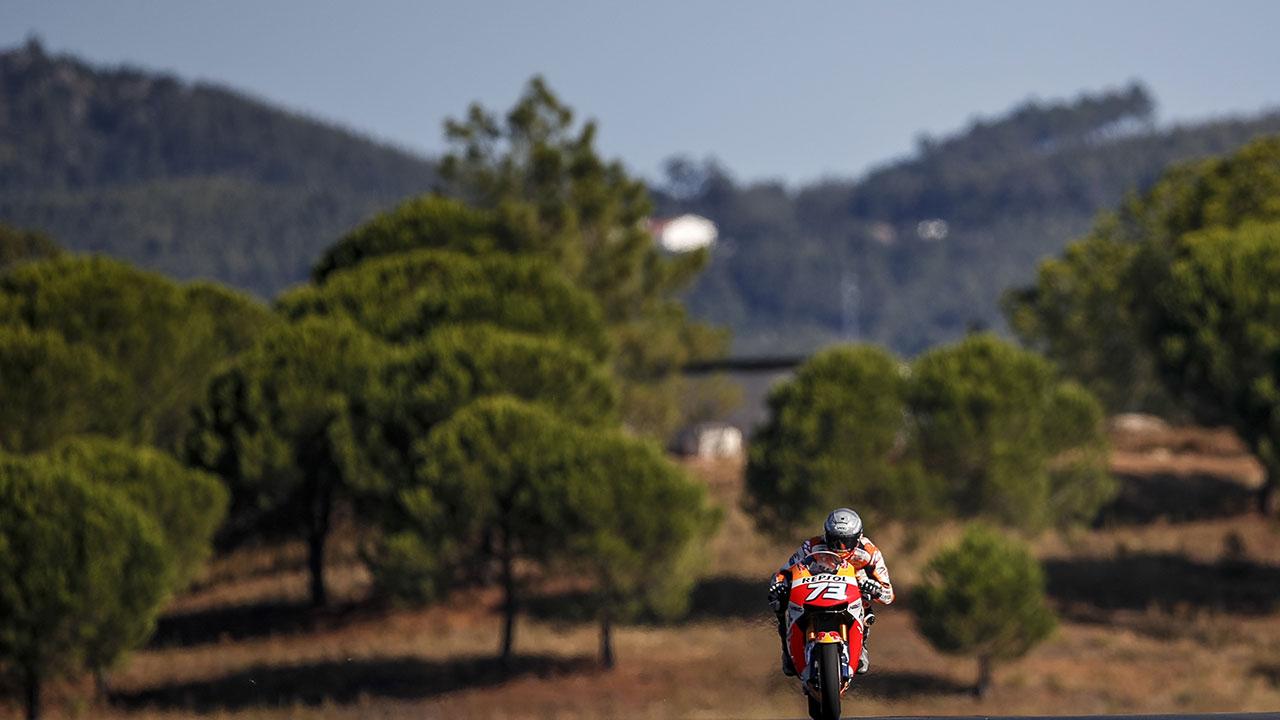Álex Márquez en el test de MotoGP en Portimao