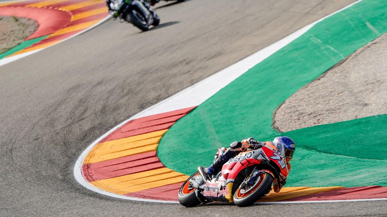 Crash hinders Álex Márquez' comeback at Aragón