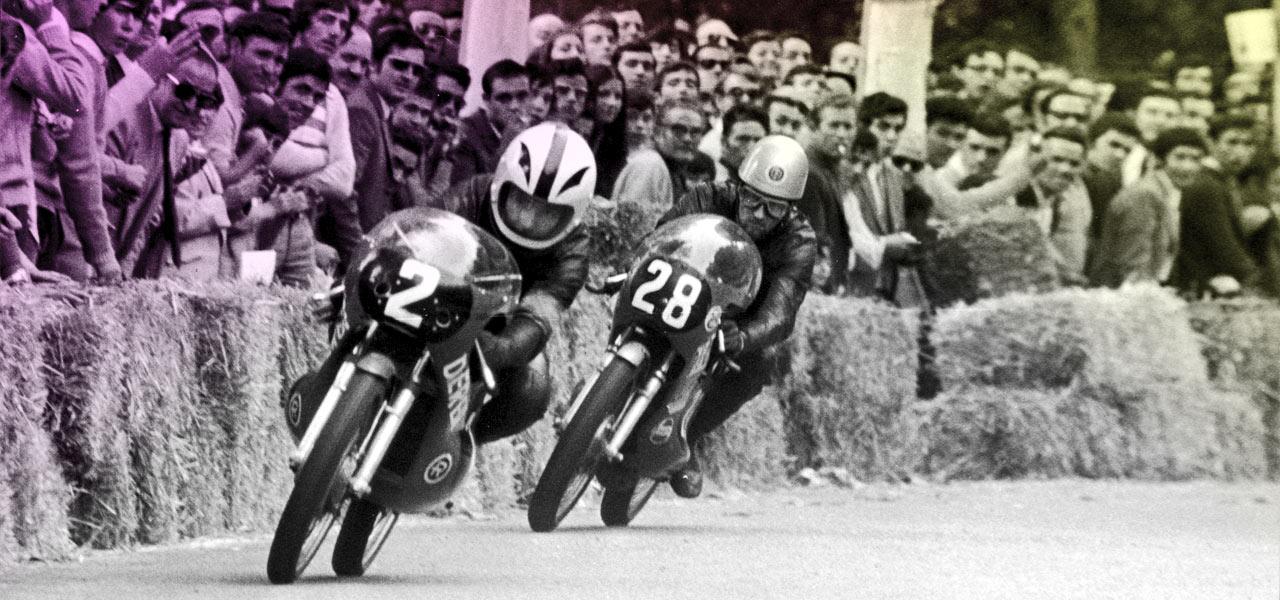 Así veíamos antes las carreras de motos