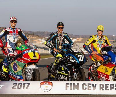Eric Granado, Manuel González y Dennis Foggia, ganadores del FIM CEV Repsol.
