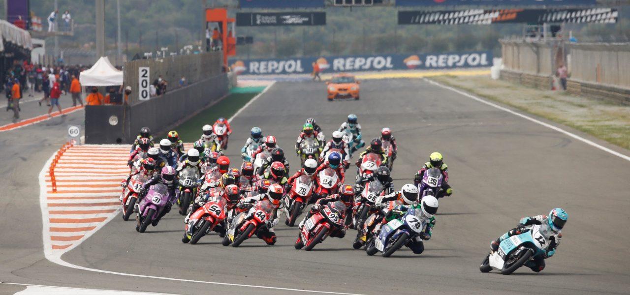 Holgado y Aldeguer repiten victorias en Moto3 y Moto2, respectivamente, y Uriarte y Carpe se imponen en la ETC