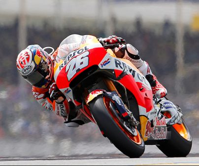 Dani Pedrosa in action with his RC213V