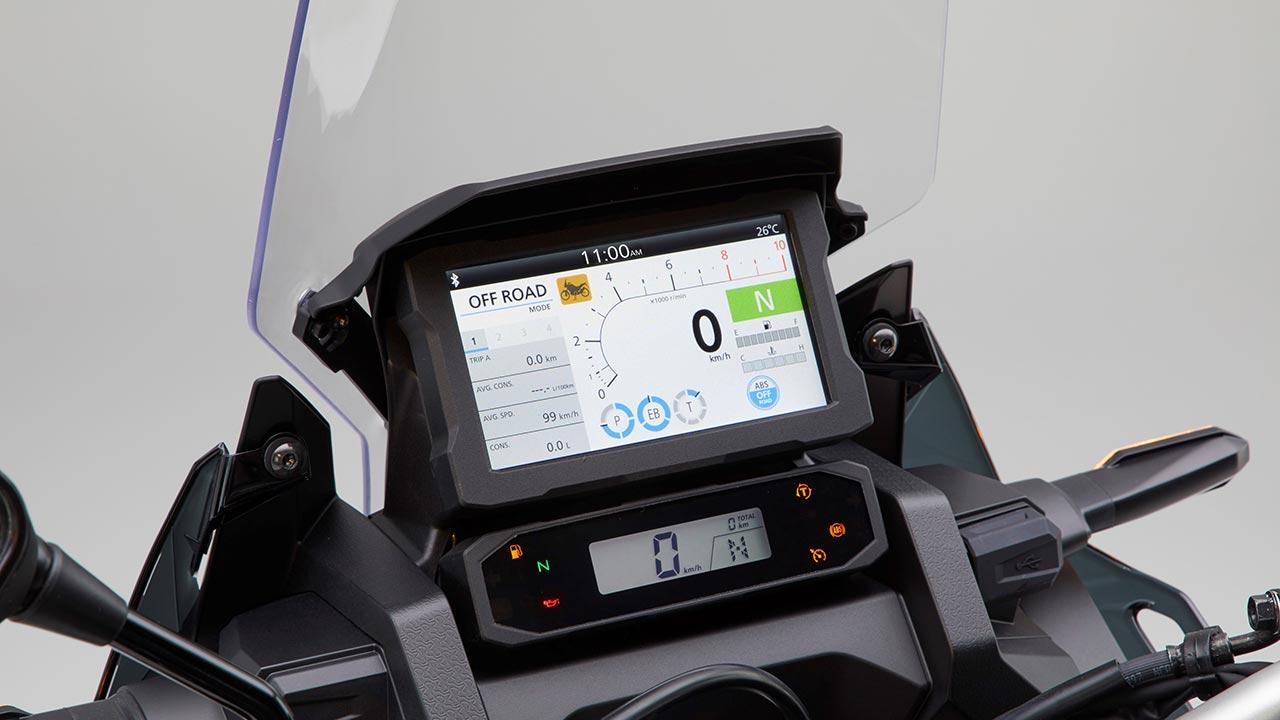 Panel de mandos de la Honda África Twin 2021
