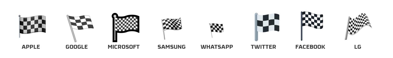 emoji bandera a cuadros