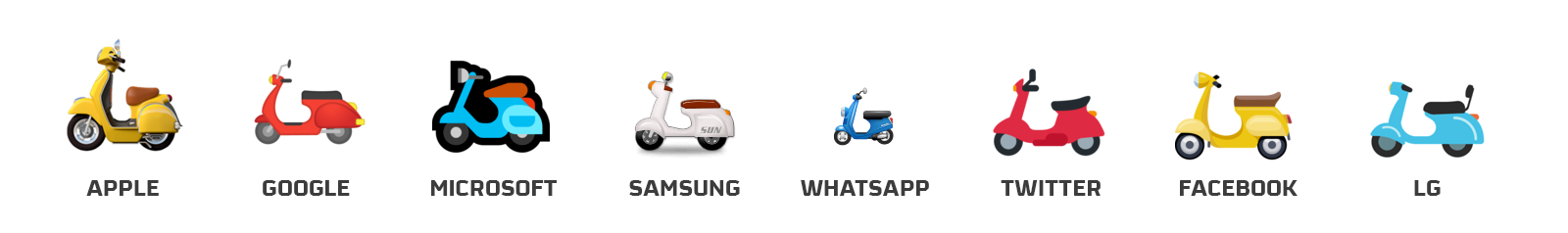 emojis scooter