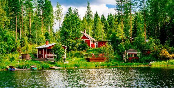 Casa en los bosques de finlandia