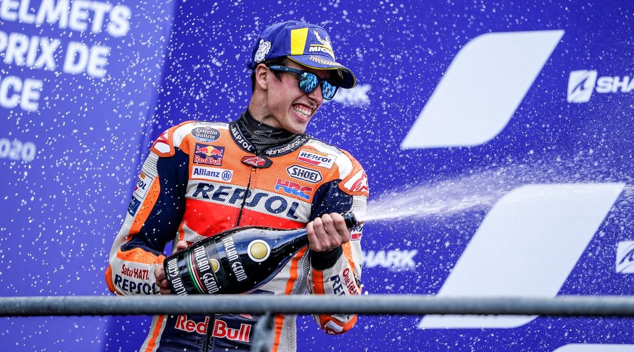 Álex Márquez logra su primer podio en MotoGP