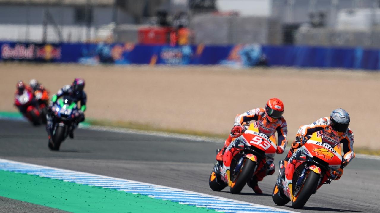 Los pilotos del equipo Repsol Honda finalizan el GP de España entre los diez primeros