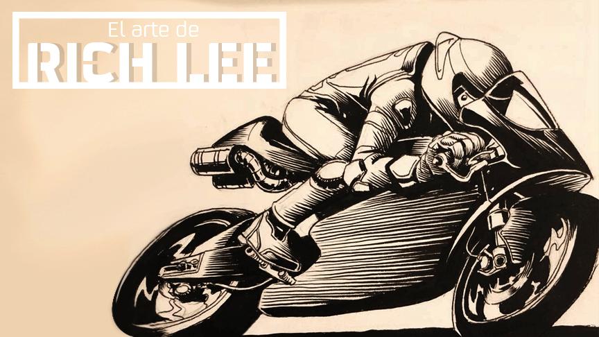 Rich Lee y su increíble talento dibujando motos