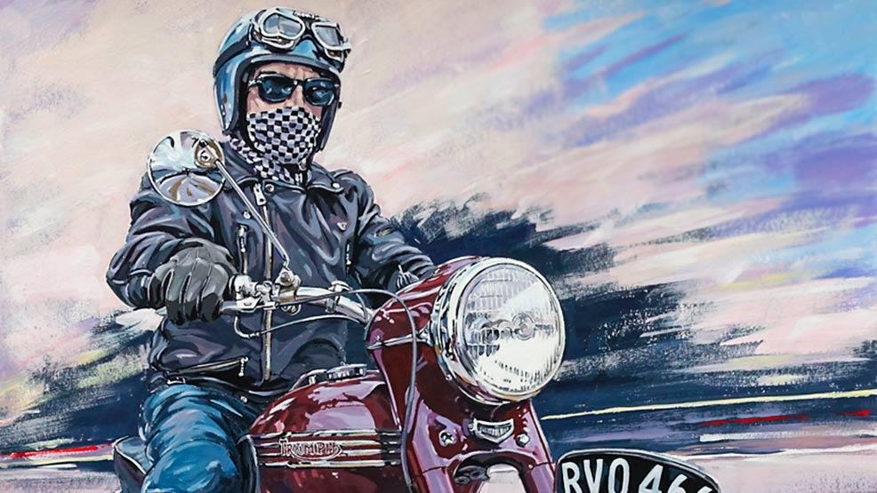 Ian Cater, el retratista de la moto clásica