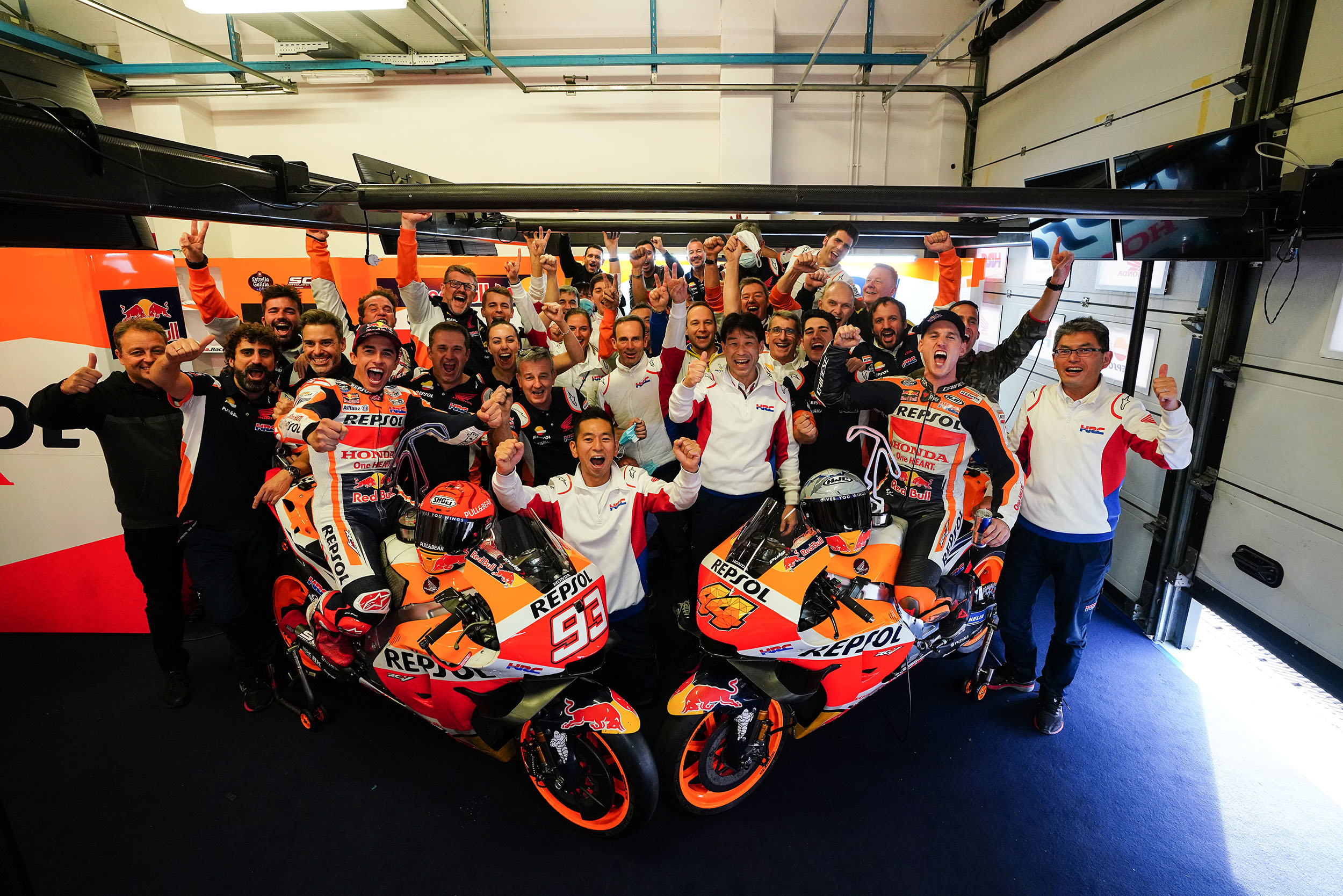 Victory and second place for Repsol Honda Team at Misano