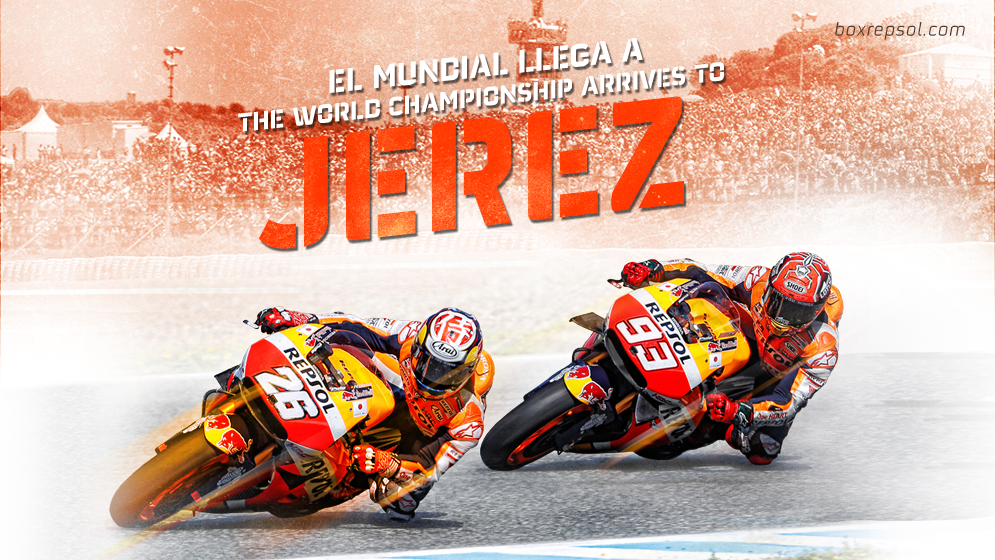 Wallpaper Jerez con Marc y Dani