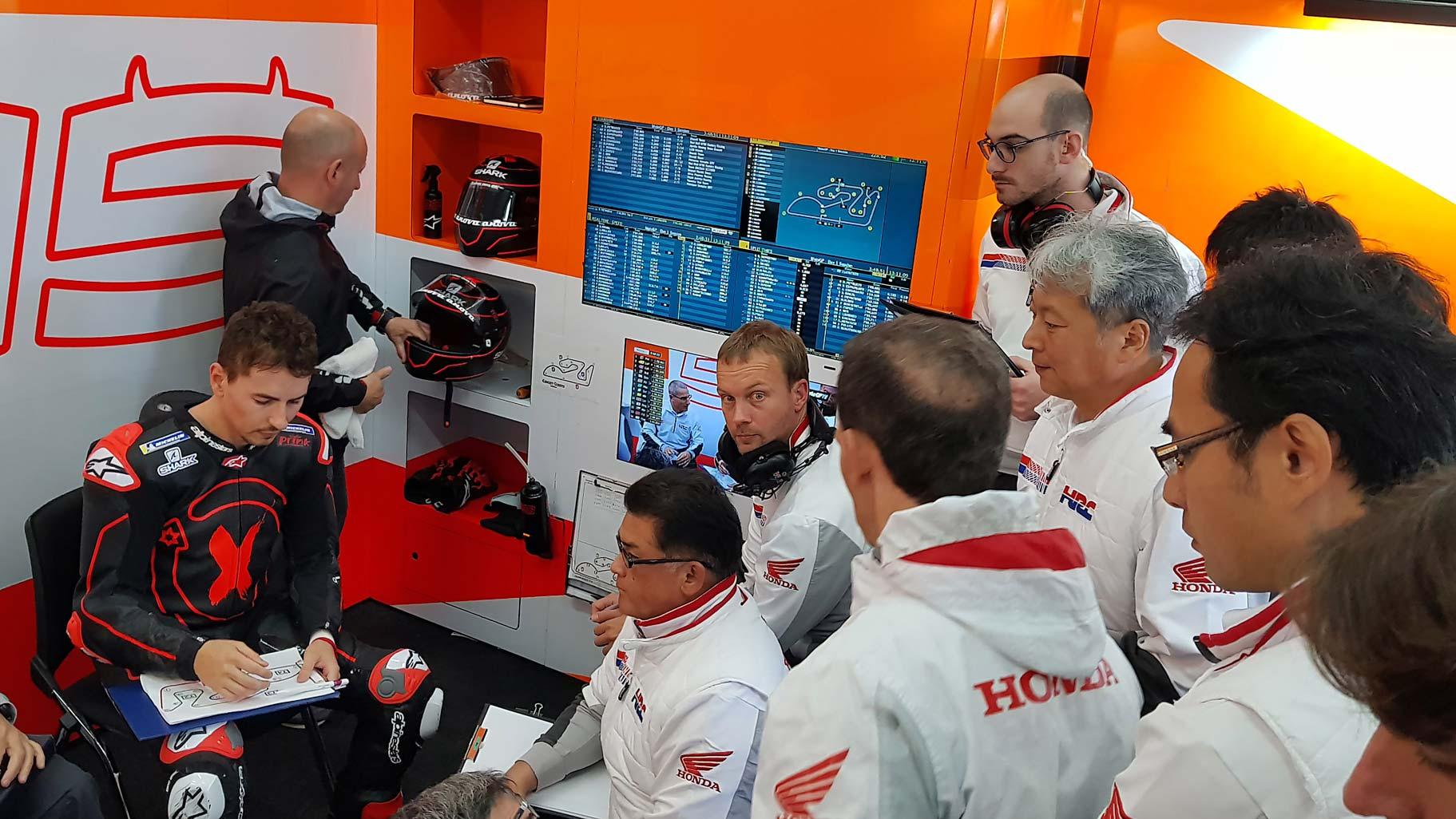 Jorge Lorenzo con Repsol Honda