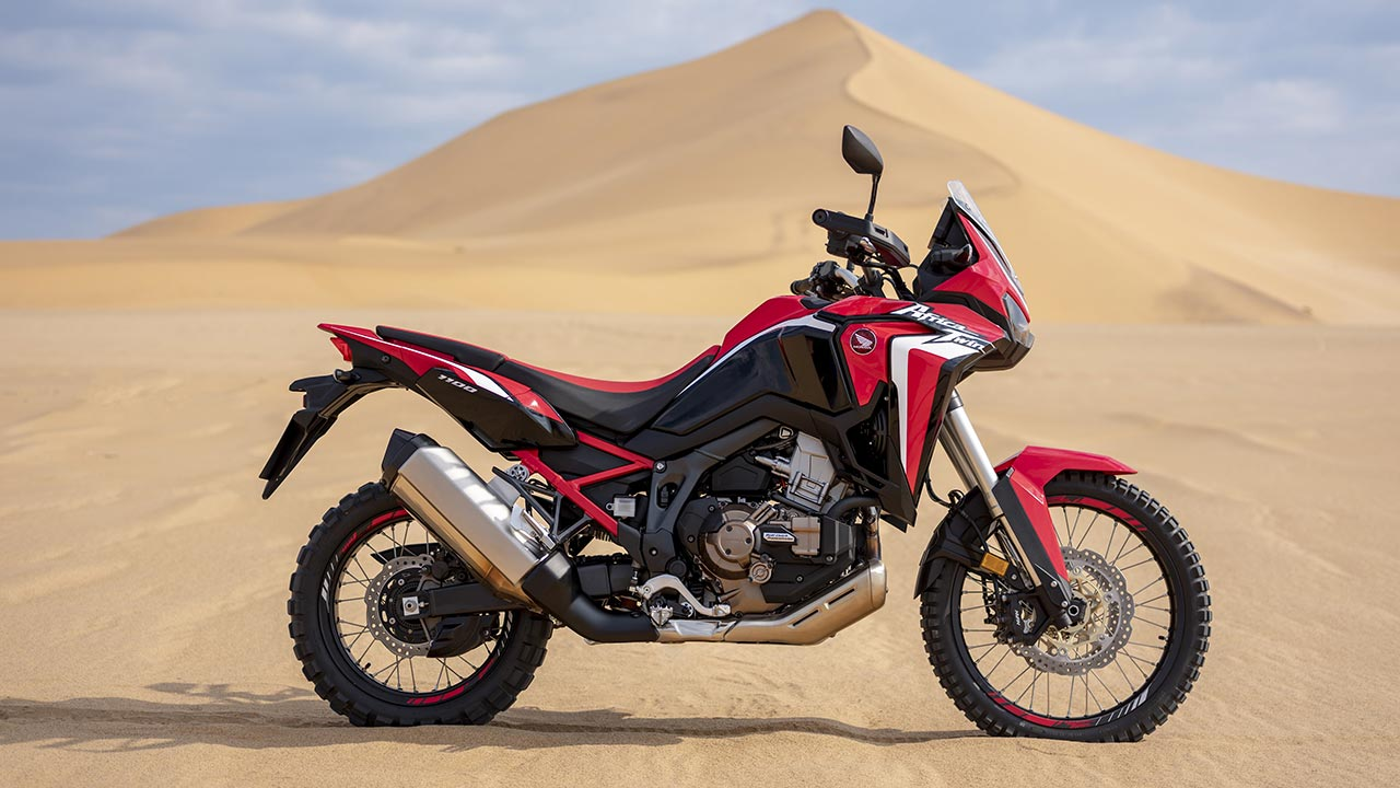 Honda África Twin 2021 en arena