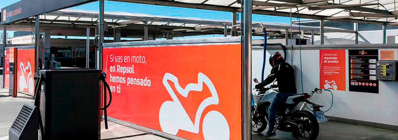 punto de lavado de motos motostop repsol