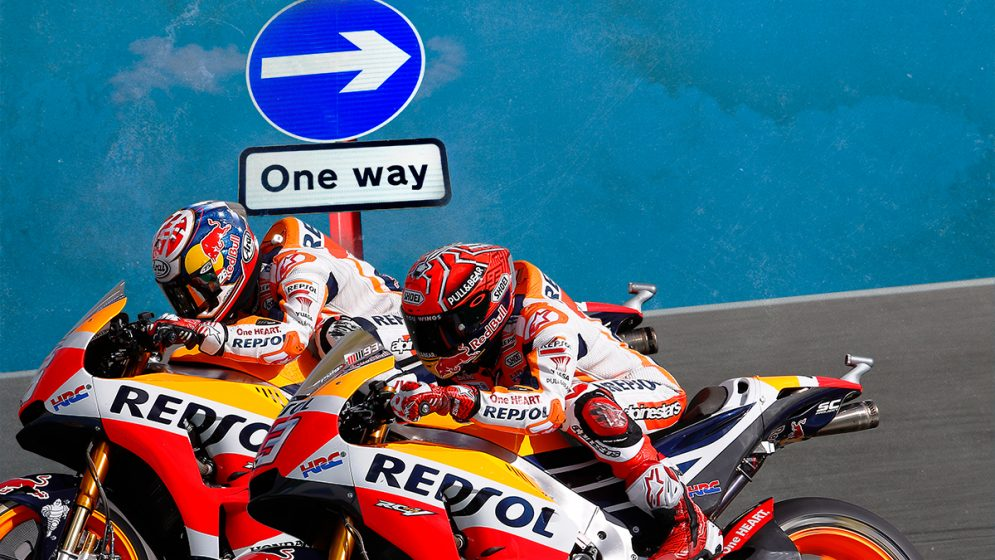 What if you could ride the MotoGP circuits backwards?