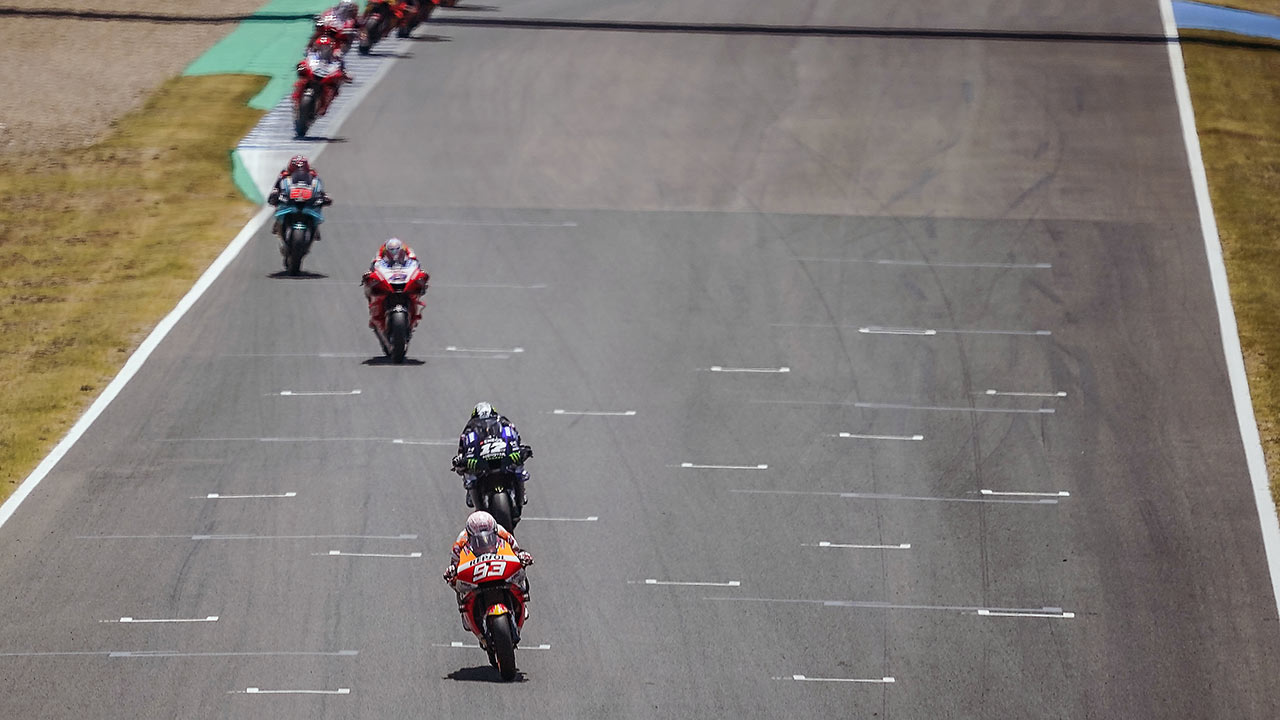 Marc Márquez en el GP de España 2020