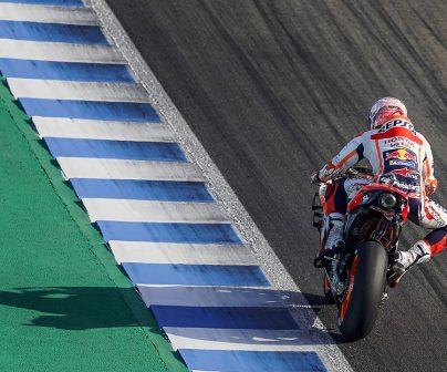 Fotos del GP de España Marc Márquez en pista en el circuito de Jerez