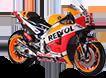 Miniatura de la moto de Dani Pedrosa
