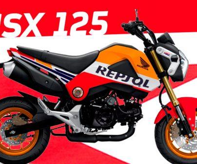 Honda MSX 125 con vinilado Repsol