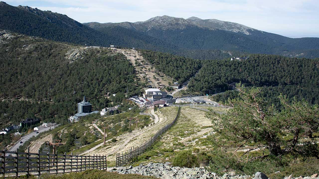 Vista de la estación de Navacerrada