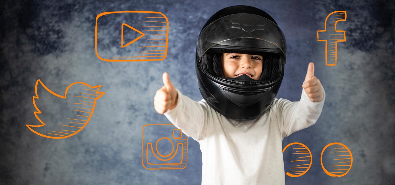 Miguelito, el pequeño motorista y otras curiosidades vistas en redes