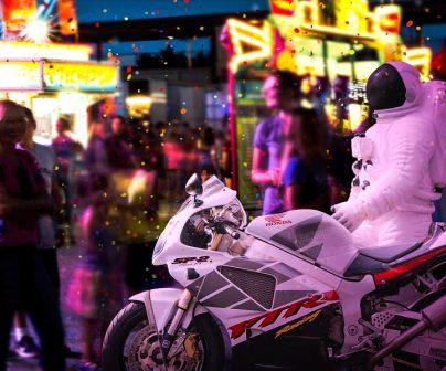 carnaval motero en la ciudad de tenerife