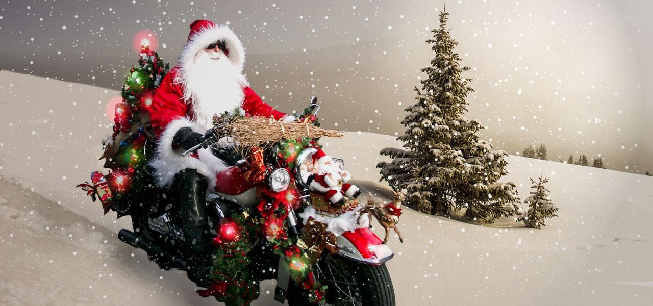 10 motos decoradas que sacarán todo tu espíritu navideño
