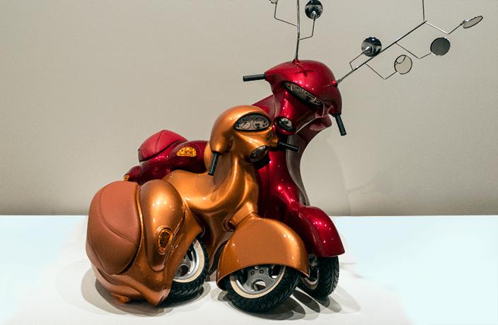 Arte hecho con motos
