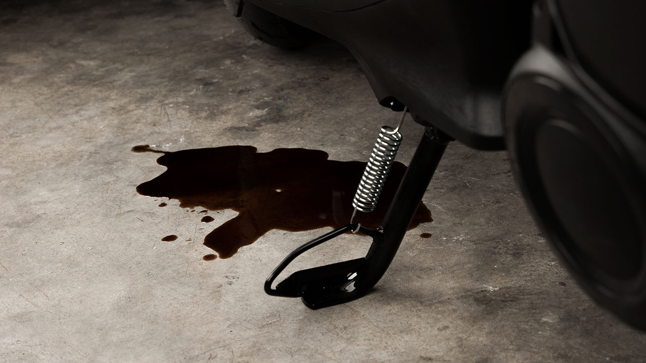 Moto perdiendo aceite