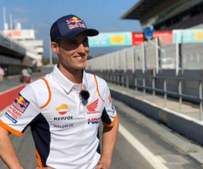 Pol Espargaró en el circuito de Catalunya