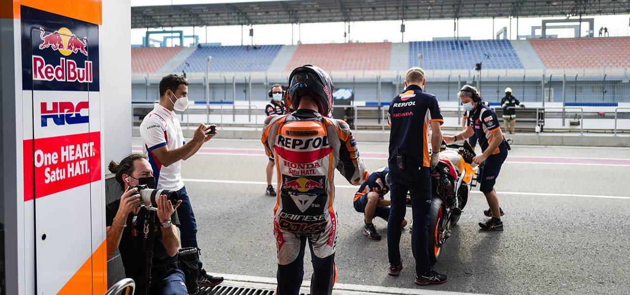 El equipo Repsol Honda, centrado ya en el primer GP de la temporada