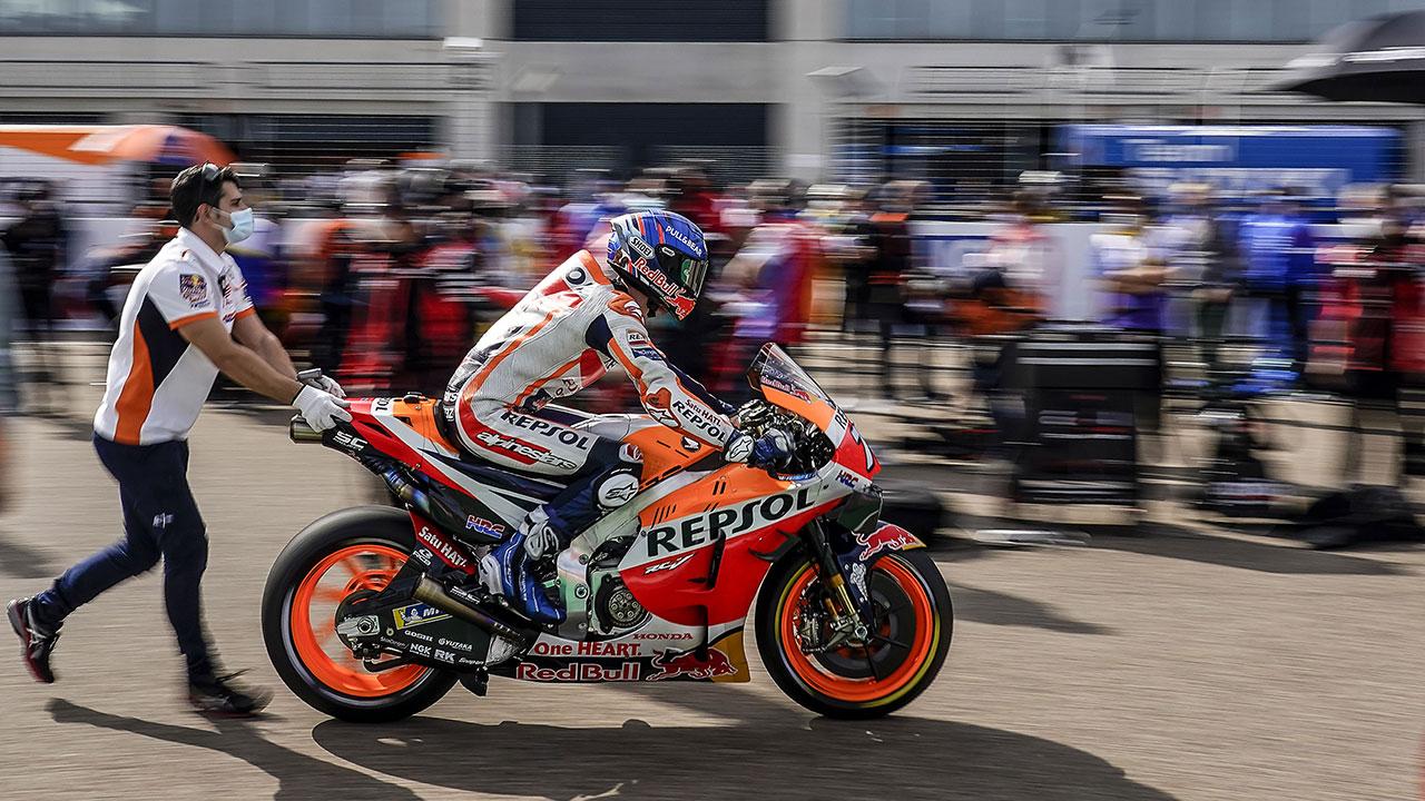 El equipo Repsol Honda listo para la penúltima prueba de la temporada. Marc Márquez volverá en 2021.