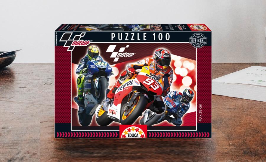Caja del puzle oficial del campeonato de MotoGP