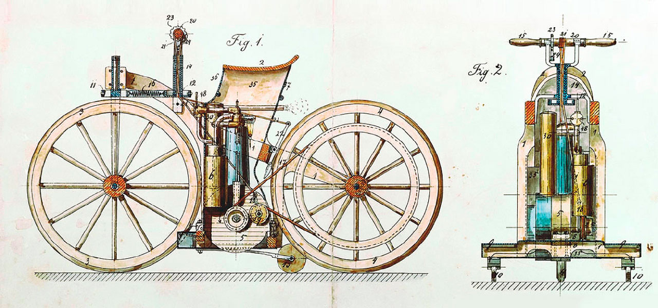 ¿Quién inventó la moto?
