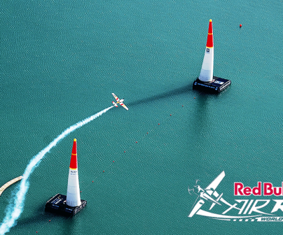 Toma aérea de la Red Bull Air Race