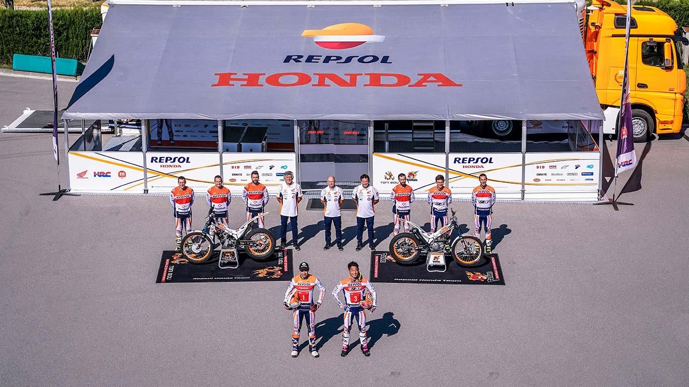 Repsol and Honda renew Trial team partnership