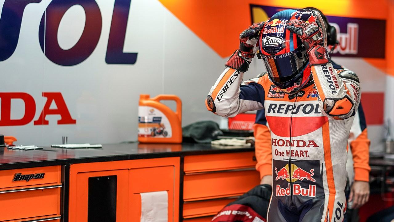 El equipo Repsol Honda completa los entrenamientos en Valencia