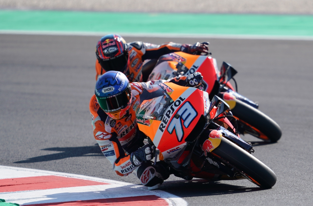 First day of practice at Misano for Repsol Honda Team