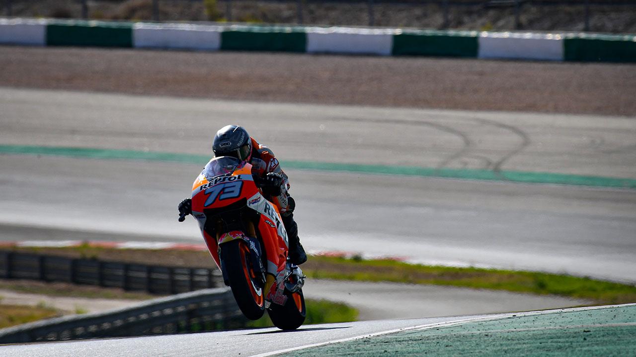 Márquez y Bradl completan el test de MotoGP en Portimao