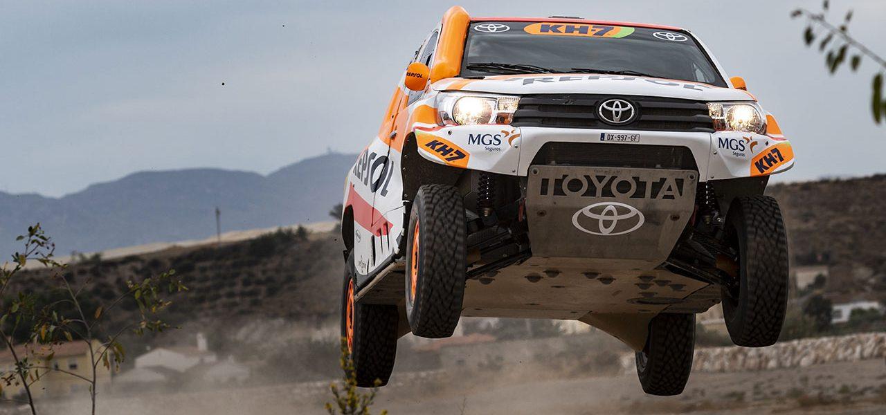 El flamante Toyota Hilux Overdrive del Repsol Rally Team para el Dakar 2021
