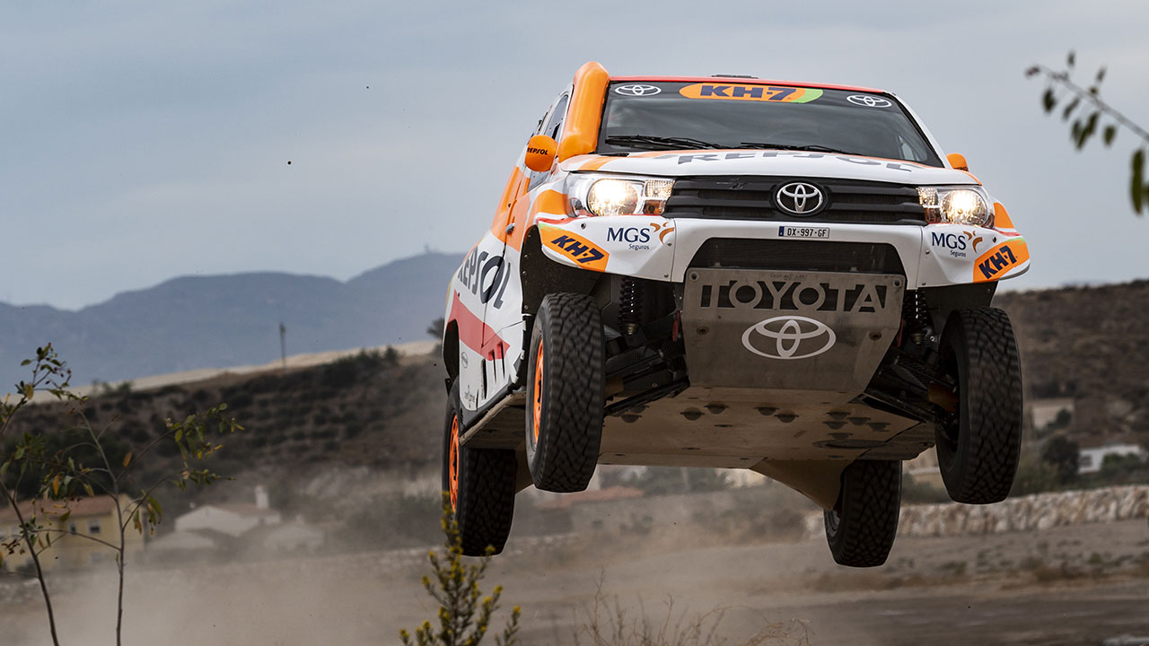 The Repsol Rally Team's brand-new Toyota Hilux Overdrive for the 2021 Dakar