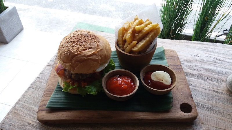 Leckere Burger in Ubud