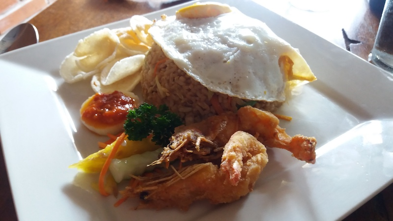 Nasi Goreng mit Chrimps