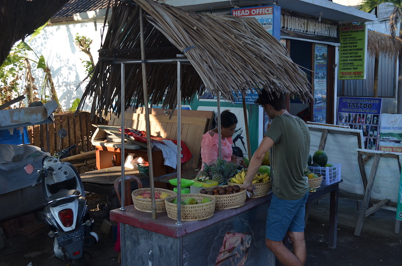 Obststand in Amed auf Bali