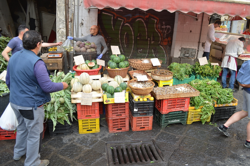 Obst am Markt in Catania auf Sizilien