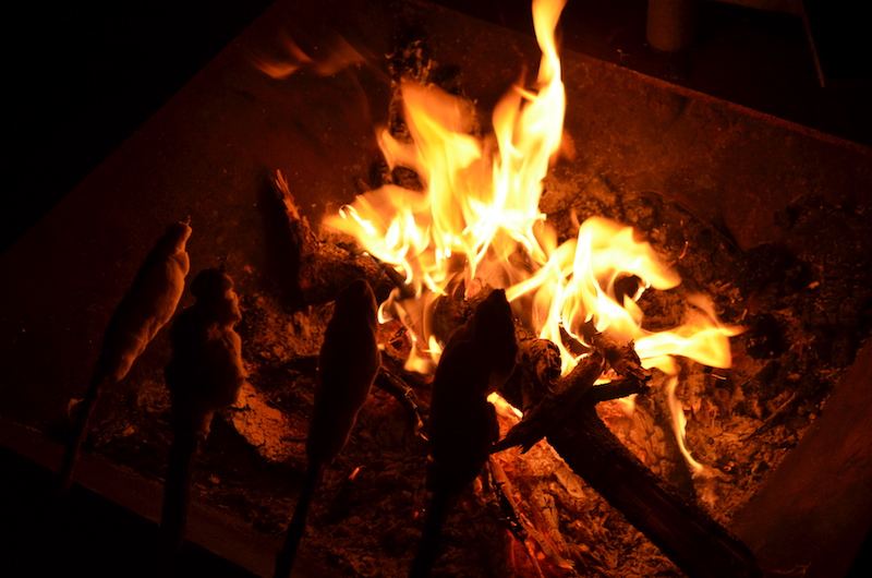 Stockbrot am Lagerfeuer in Australien