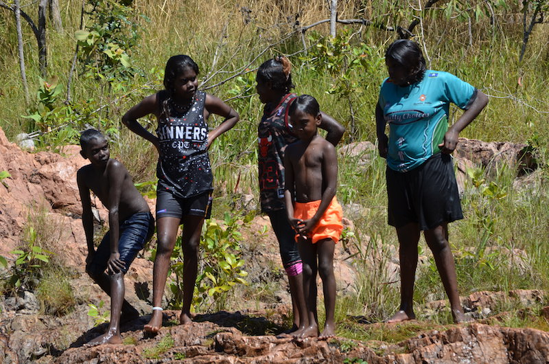 Aborigines Kinder in Australien