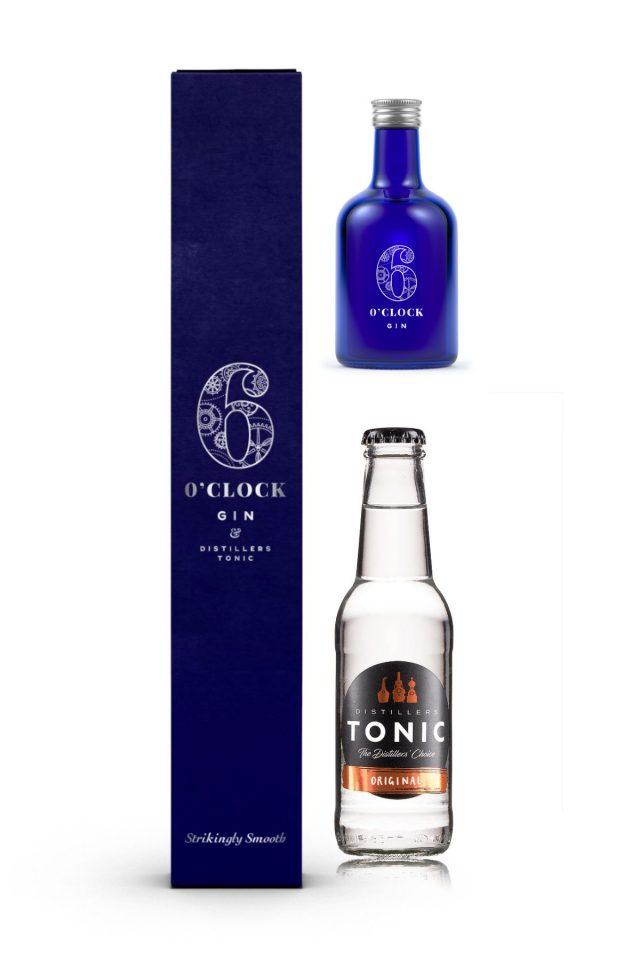 6 O'clock Gin & Tonic Giftbox  43% ABV.