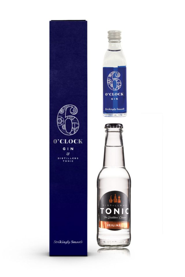 6 O'clock Gin & Tonic Giftbox  43% ABV.